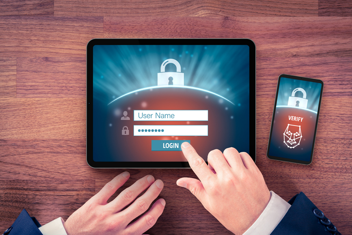 Two-factor authentication (2FA) and face identification